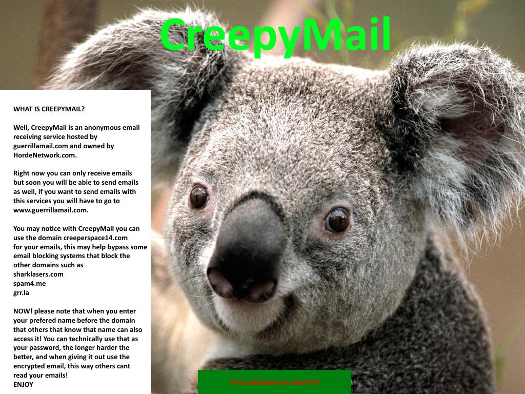 ✉ CreepyMail